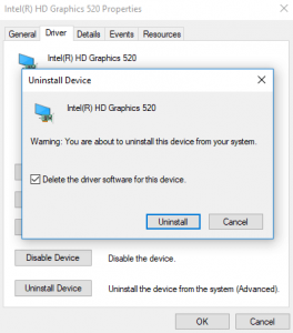 Uninstall Device Driver Software